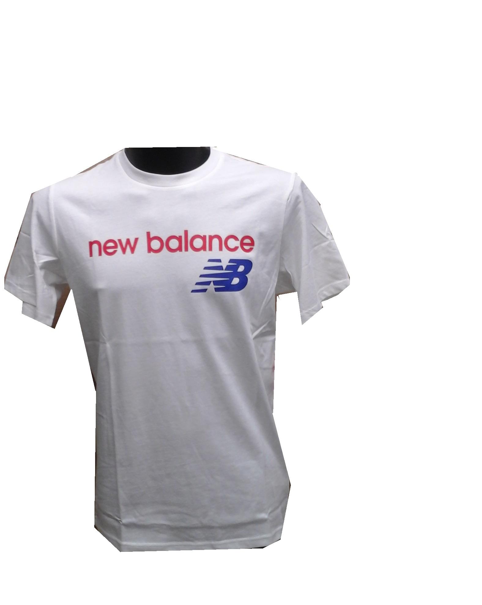 tee shirt loisir nb athletic bleu blanc rouge new balance sportpro natation. Black Bedroom Furniture Sets. Home Design Ideas
